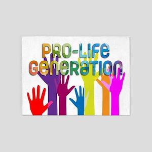 Pro-Life Generation 5'x7'Area Rug