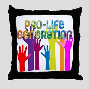 Pro-Life Generation Throw Pillow