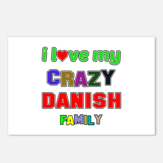 I love my crazy Danish fa Postcards (Package of 8)