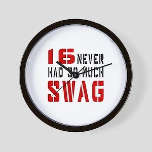 16 Swag Birthday Designs Wall Clock