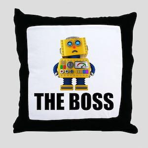 The Boss Throw Pillow