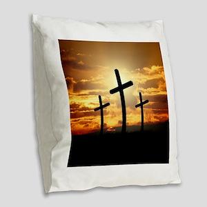 The Cross Burlap Throw Pillow