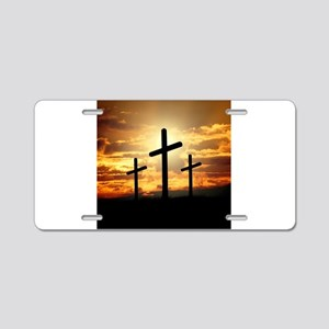 The Cross Aluminum License Plate