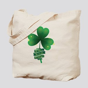 Holy Trinity Shamrock Tote Bag
