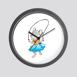 Mouse Jumping Rope Wall Clock