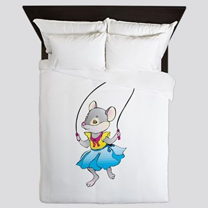 Mouse Jumping Rope Queen Duvet