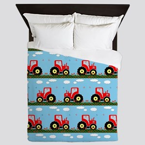 Toy tractor pattern Queen Duvet