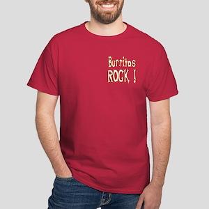 Burritos Rock ! Dark T-Shirt