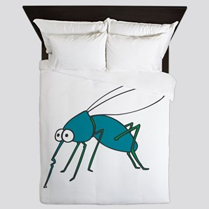 Mosquito blue Queen Duvet