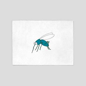 Mosquito blue 5'x7'Area Rug