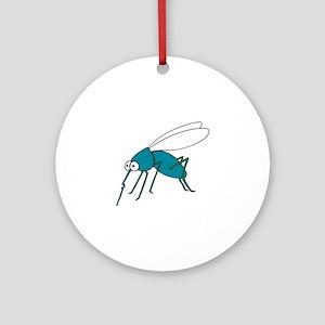 Mosquito blue Round Ornament