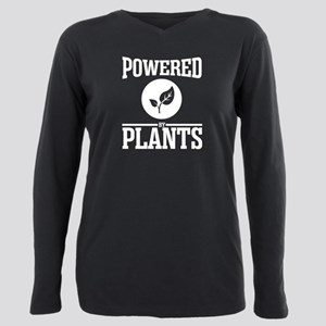 Powered by plants Plus Size Long Sleeve Tee