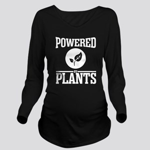 Powered by plants Long Sleeve Maternity T-Shirt