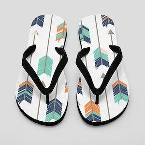 Tribal Arrows Pattern - Navy Orange and Flip Flops