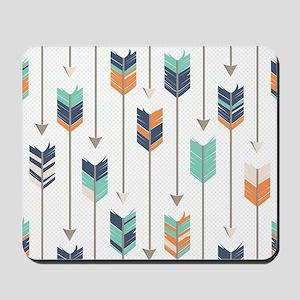 Tribal Arrows Pattern - Navy Orange and Mousepad