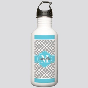 Gray Aqua Girly Cute M Stainless Water Bottle 1.0L