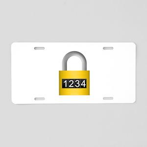 Combination lock Aluminum License Plate