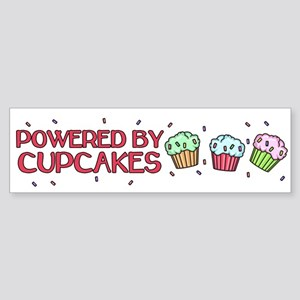 Powered By Cupcakes Sticker (Bumper)