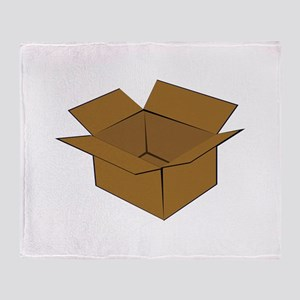 Cardboard Box Throw Blanket