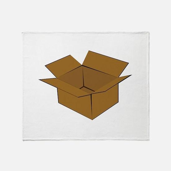 Cardboard Box Throw Blanket