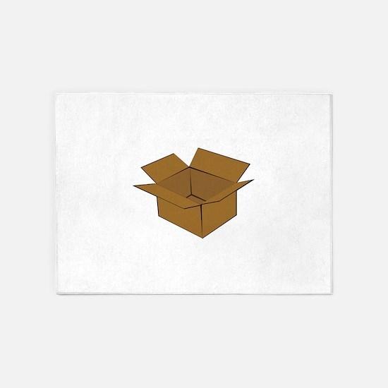Cardboard Box 5'x7'Area Rug