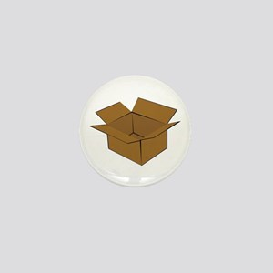 Cardboard Box Mini Button