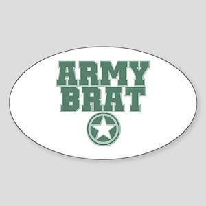 Army Brat - Green Oval Sticker