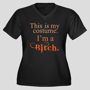Halloween Bitch Women's Plus Size V-Neck Dark T-Sh