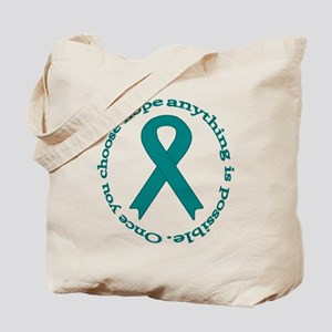 Teal Hope Tote Bag