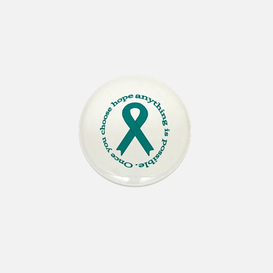 Teal Hope Mini Button