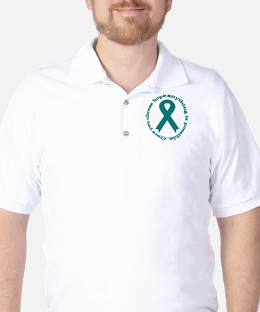 Teal Hope Golf Shirt