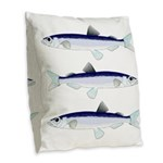 Capelin Burlap Throw Pillow
