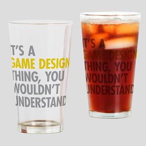 Game Design Drinking Glass