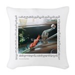 """Kindness""&Carrots Woven Throw Pillow"