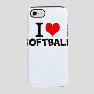 I Love Softball iPhone 8/7 Tough Case