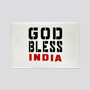 God Bless India Rectangle Magnet