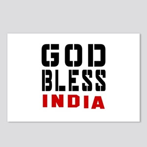 God Bless India Postcards (Package of 8)