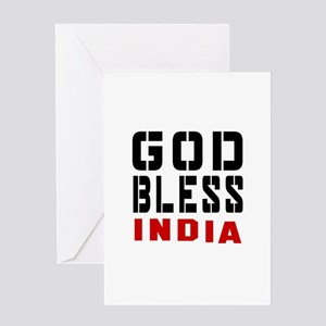 God Bless India Greeting Card