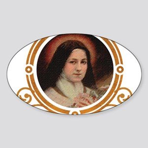 St. Therese Pray for Us Sticker