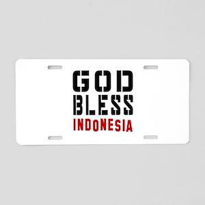 God Bless Indonesia Aluminum License Plate