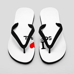 e36b3399400b I Heart Softball Flip Flops - CafePress