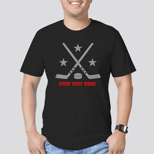 Hockey Personalized Men's Fitted T-Shirt (dark)