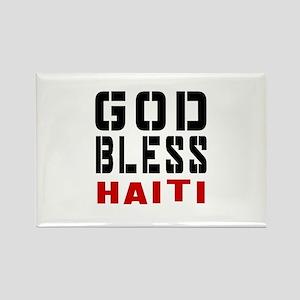 God Bless Haiti Rectangle Magnet