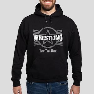 Wrestling Star Personalizable Hoodie (dark)
