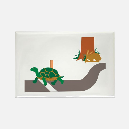 Tortoise and Hare race Magnets