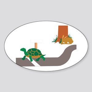 Tortoise and Hare race Sticker