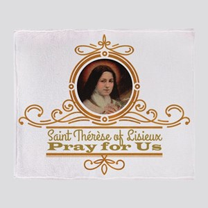 St. Therese Pray for Us Throw Blanket