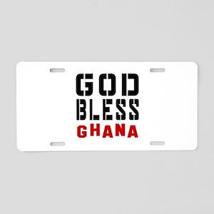 God Bless Ghana Aluminum License Plate