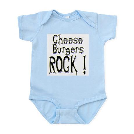 Cheese Burgers Rock ! Infant Bodysuit