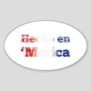 Hecho en 'merica Sticker
